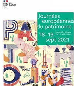Affiche A3 Journée Européenne du Patrimoine 2021