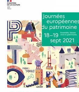 Affiche A4 Journée Européenne du Patrimoine 2021
