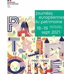 Journées européennes du patrimoine 18-19 sept 2021 - Affiche 40 X 60