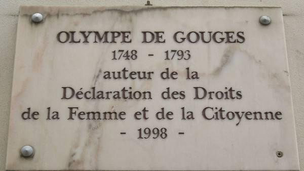 Plaque Olympe de Gouges, 18, rue Sevandoni, Paris 6
